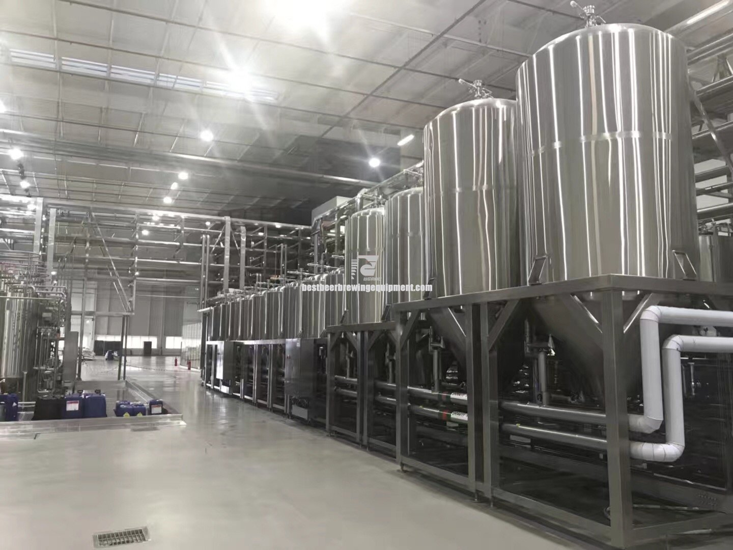 SUS304 10000L AUTO complete beer brewing system export to Australia Chinese supplier