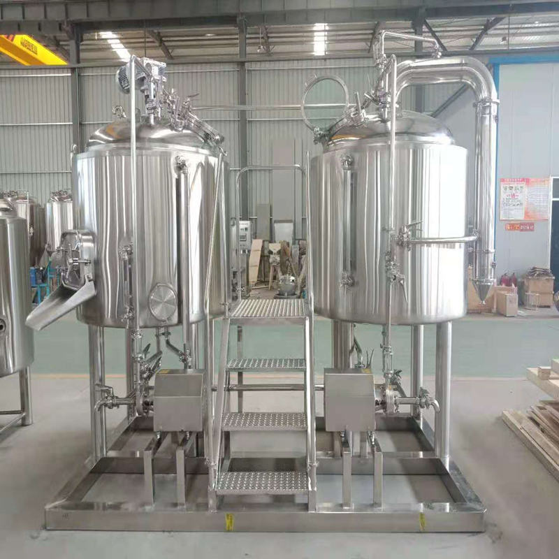 WEMAC 1000L 2 vessels beer brewing system brewery equipment made of stainless steel  ZXY
