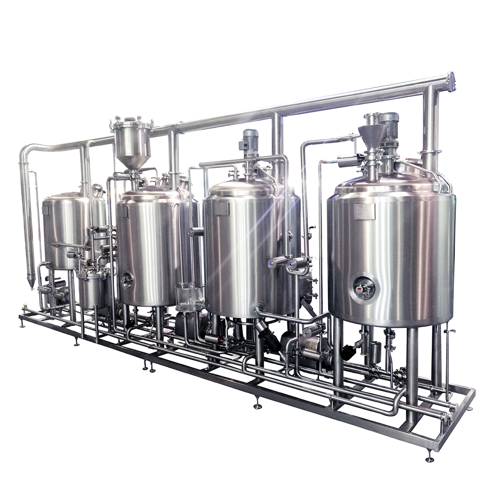 WEMAC 1000L 4 vessels beer brewing system brewery equipment made of stainless steel widely used in hotel
