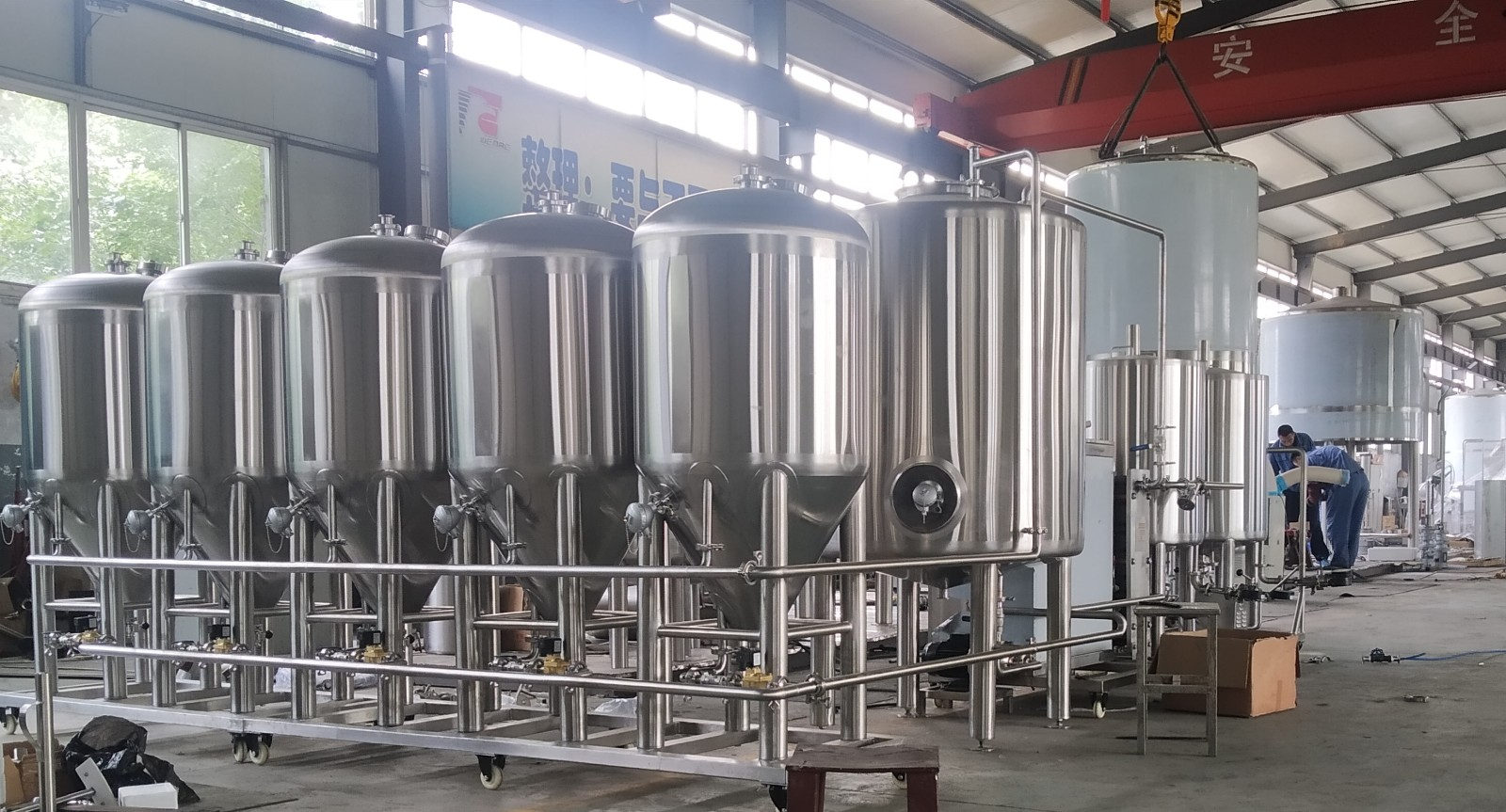 China manufacturer craft beer brewing equipment of SUS304 to Belgium 2020 W1