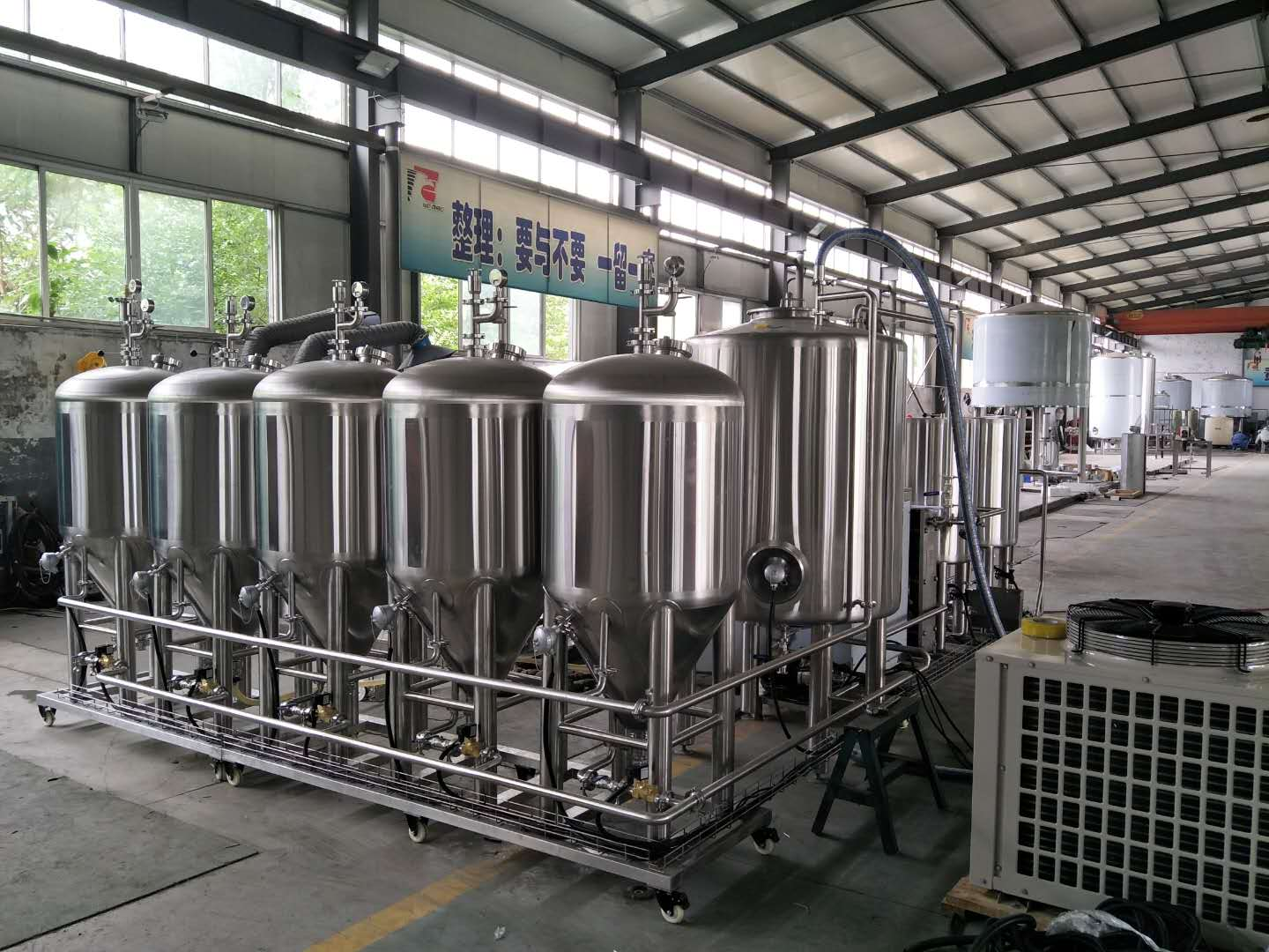 100L stainless steel brewery fermentation tanks for sale WEMAC Z05