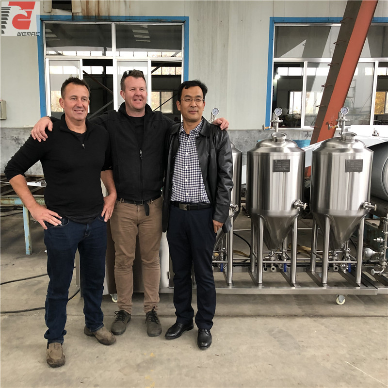 2 vessel and 3 vessel brewing system China professional beer brewing vessel manufacturer