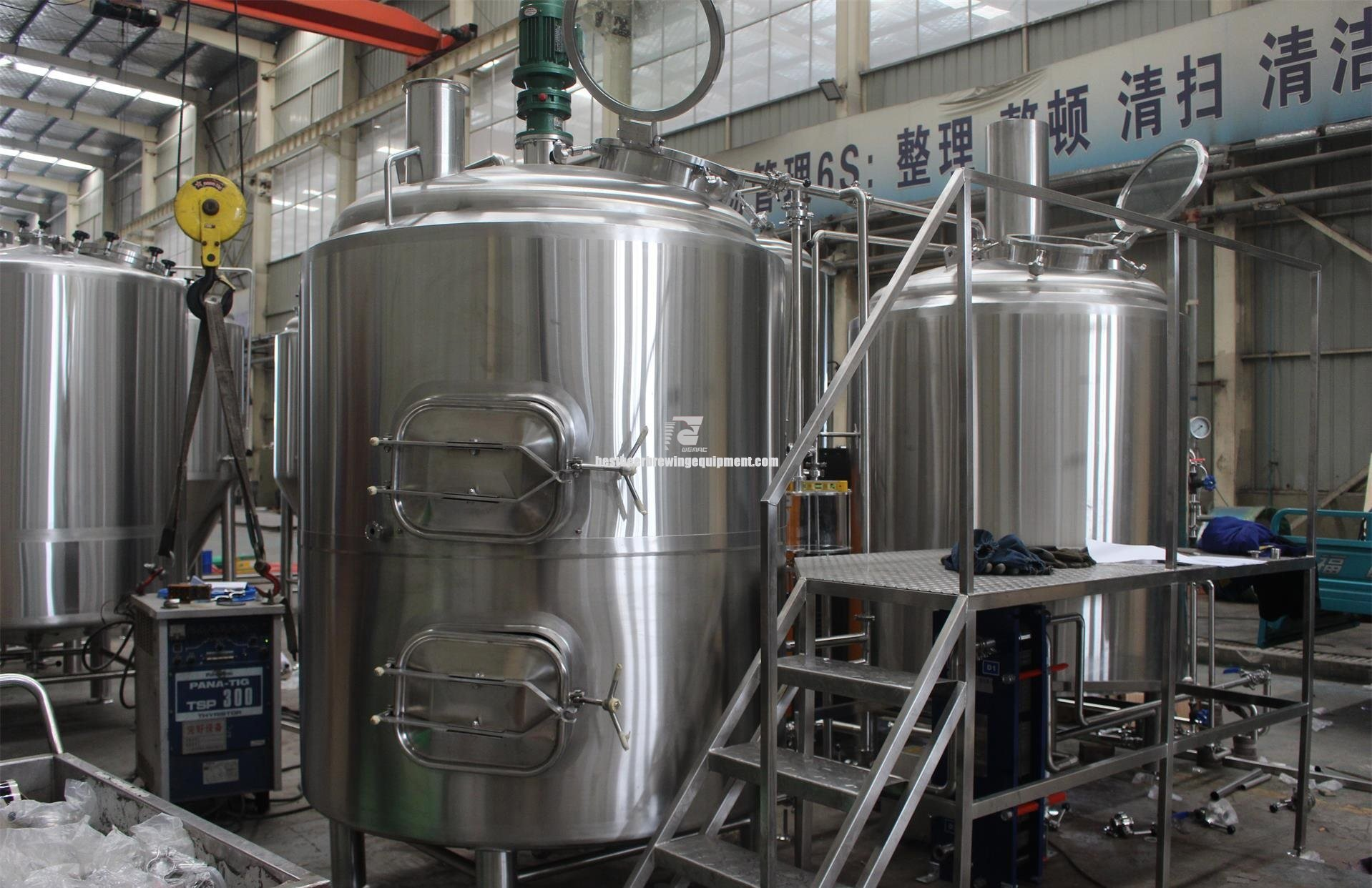 WEMAC 4 vessels craft beer brewing system brewhouse and mash system restaurant using