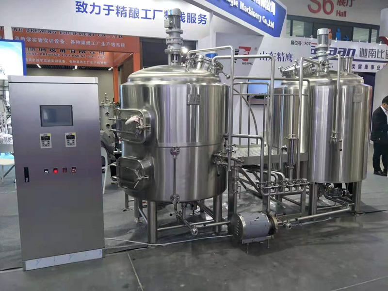 500L 1000L 3BBL 5BBL Two vesssels craft beer making microbrewery brewing system  ZXF
