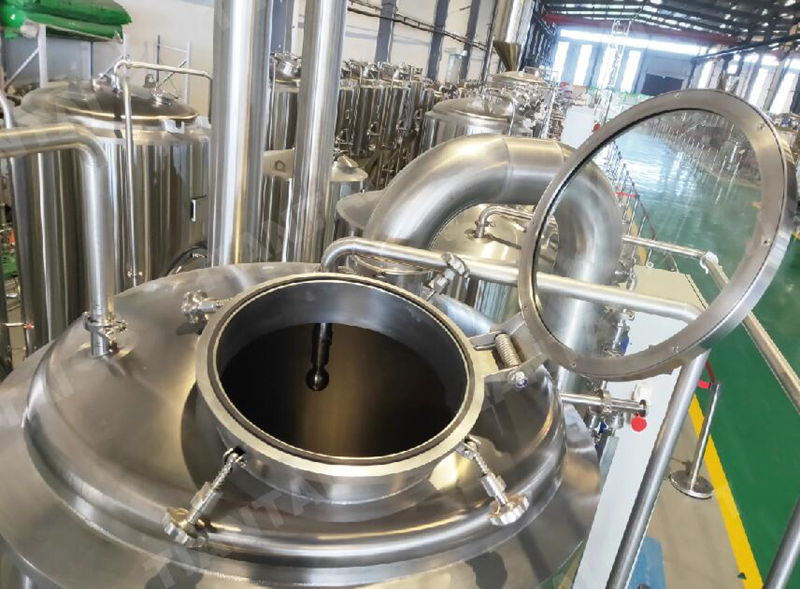 5BBL 600L Steam heating nano beer brewing brewery 2 vessels system Chinese manufacturer ZXF