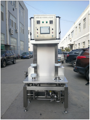 United Kingdom beautiful looking automatic / manual  beer filling machine of sus304 316 China manufactures W1