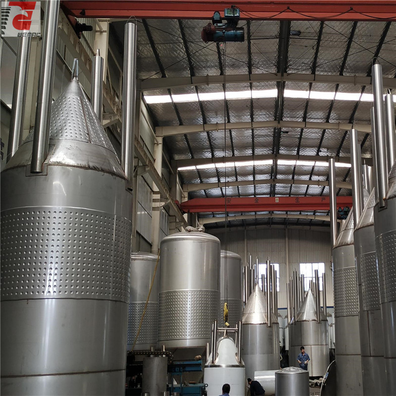6000L SUS304 conical commercial beer brewing insulation fermentor from WEMAC factory sell well in South Aferica