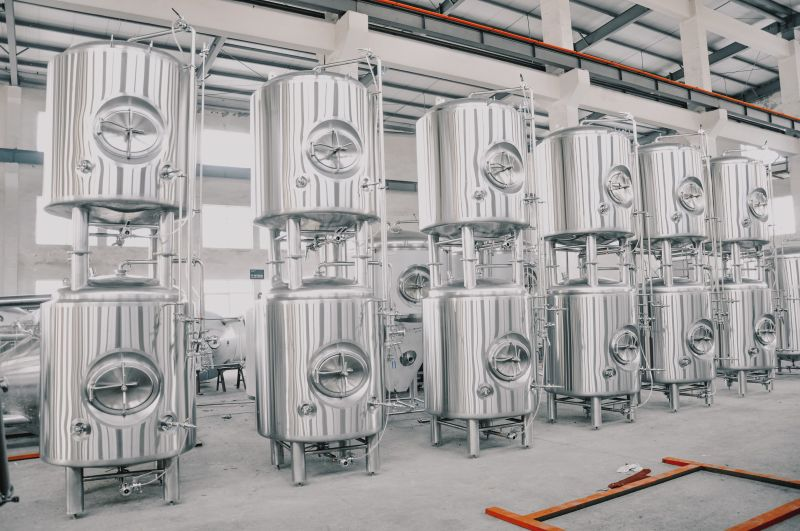 500L 1000L 5BBL Double stacked jacketed fermentation tanks fermenter for sale ZXF