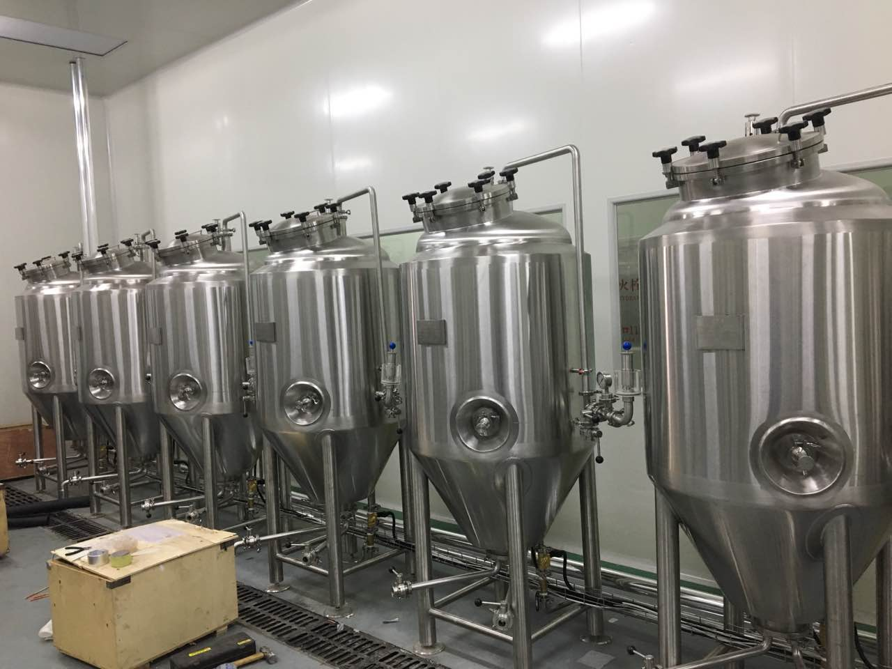 2BBL 300L steam heating Micro beer brewery making system equipment for sale ZXF