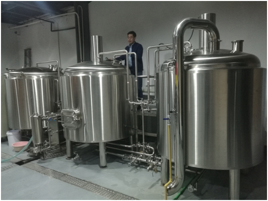 Professional energy saving auto beer brewing equipment of SUS 304 316 from China W1
