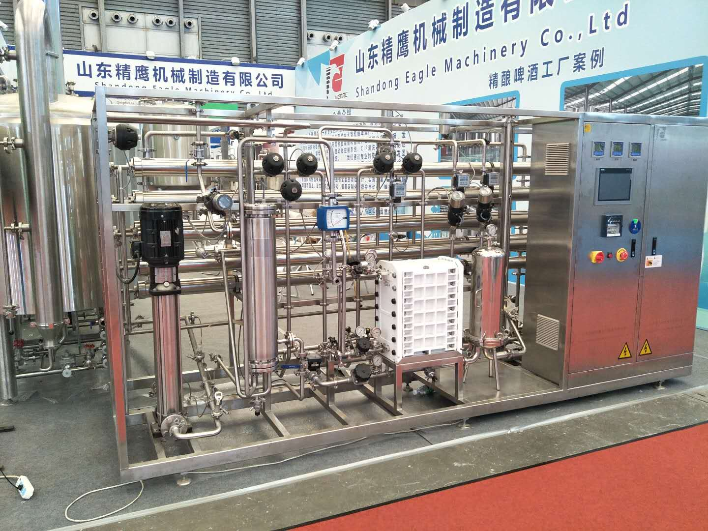 WEMAC SUS304 Automatic Water treatment RO system and EDI treatment widely used in food beverage industry
