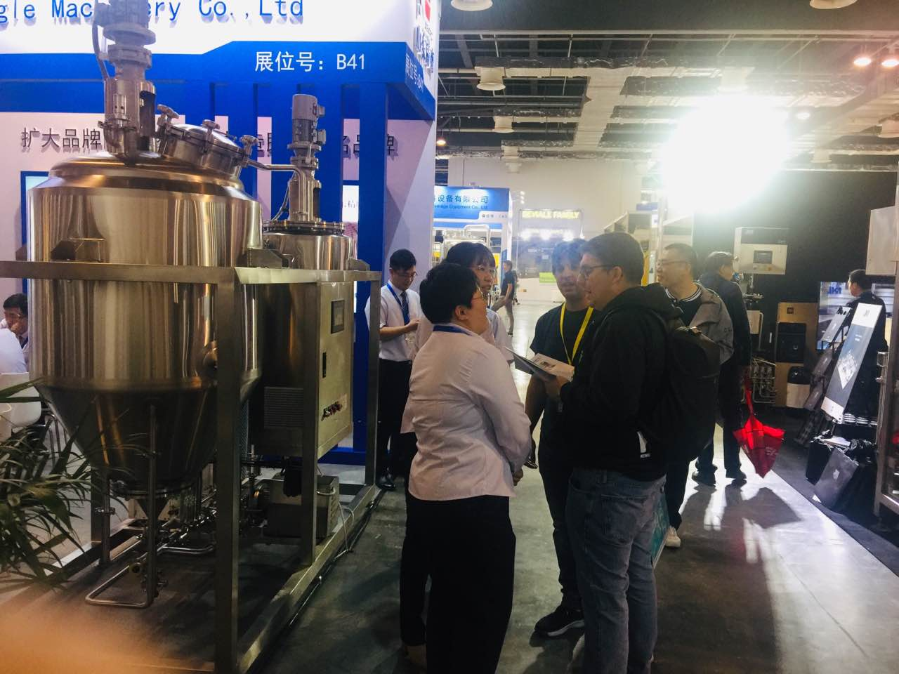 WEMAC group attended beer equipment exhibition in Shanghai