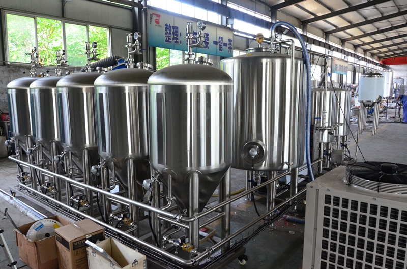 100L All in one micro beer brewing brewery equipment beer bar system for sale  ZXF