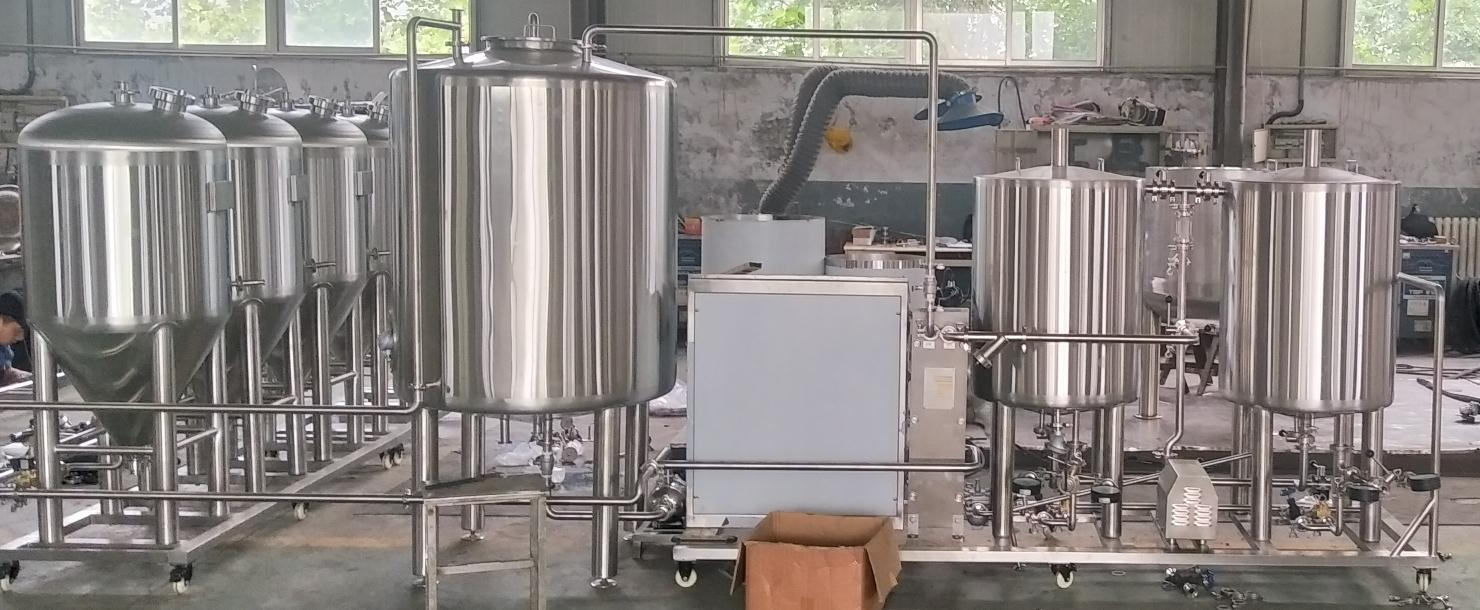Poland auto / manual microbrewery beer brewing systems of stainless steel Chinese manufacturer 2020 W1