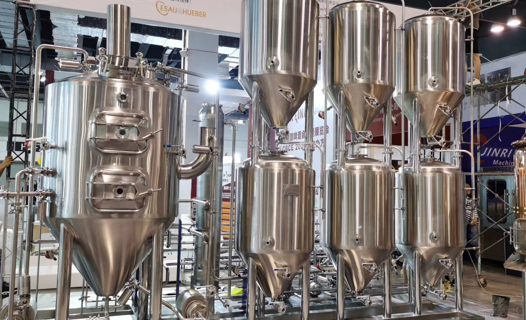 Nepal auto turnkey beer brewing equipment of SUS304 from China manufacturer 2020 W1