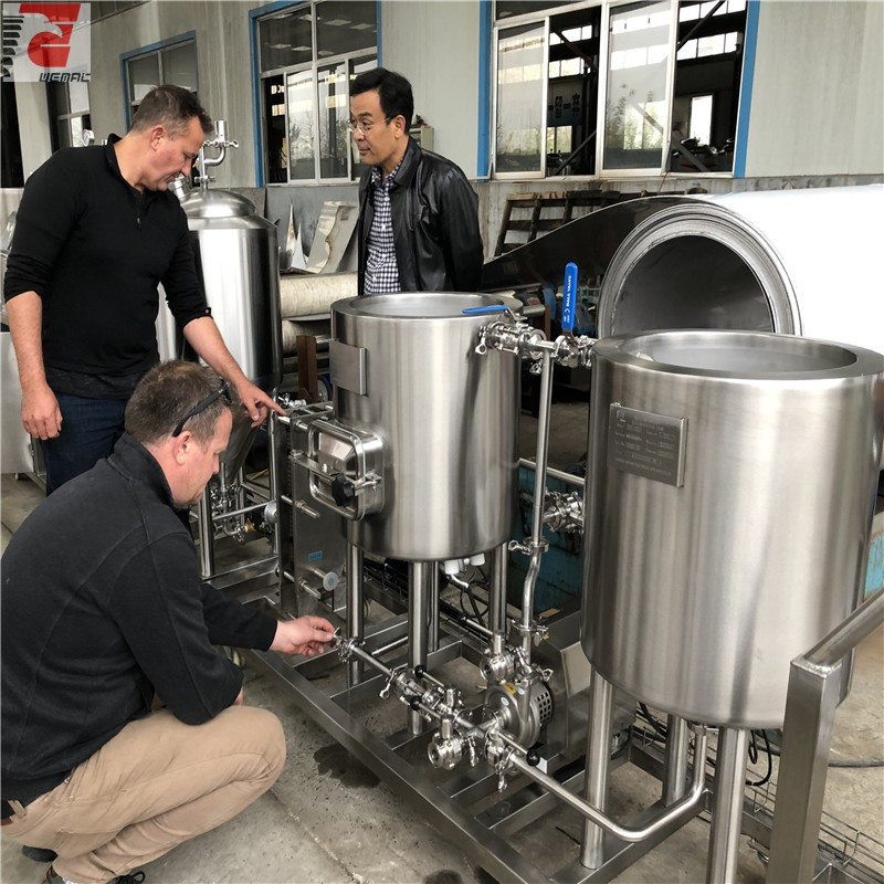 Commercial 2 vessel and 3 vessel beer brewing equipment for sale brewery equipment list