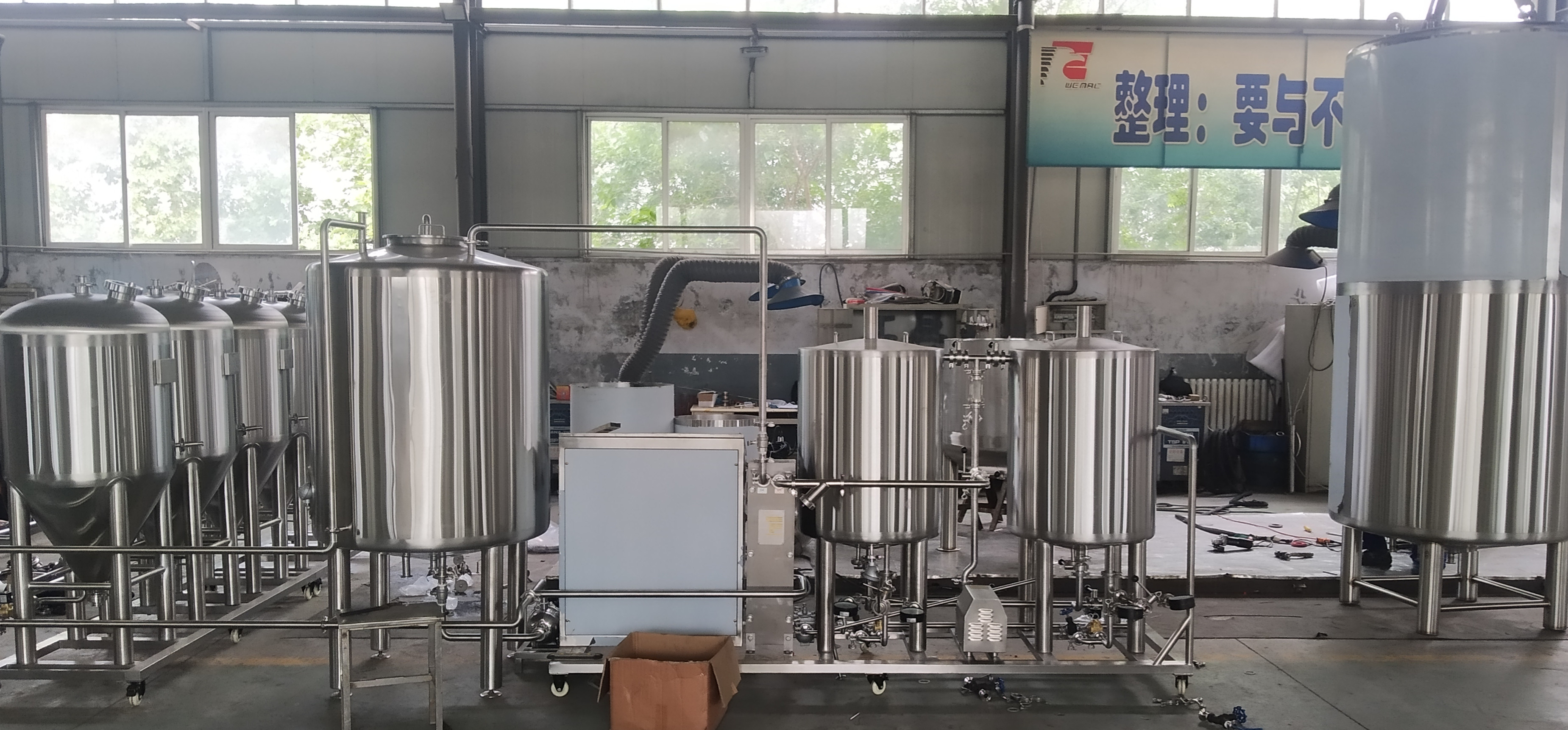 100L SUS 304 professional craft beer brewing equip...