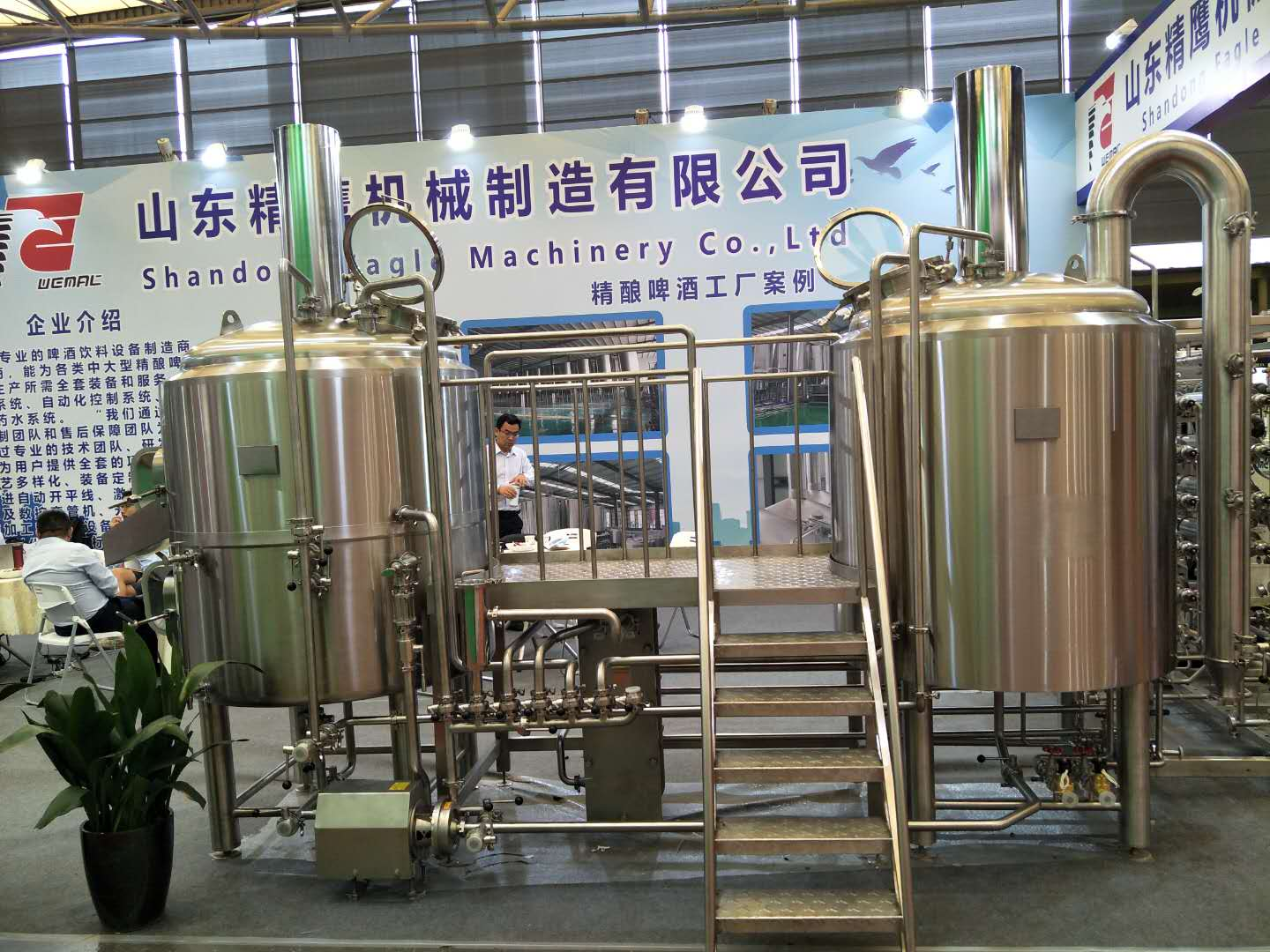 500L Turnkey beer brewing system mash fermentation tank from WEMAC