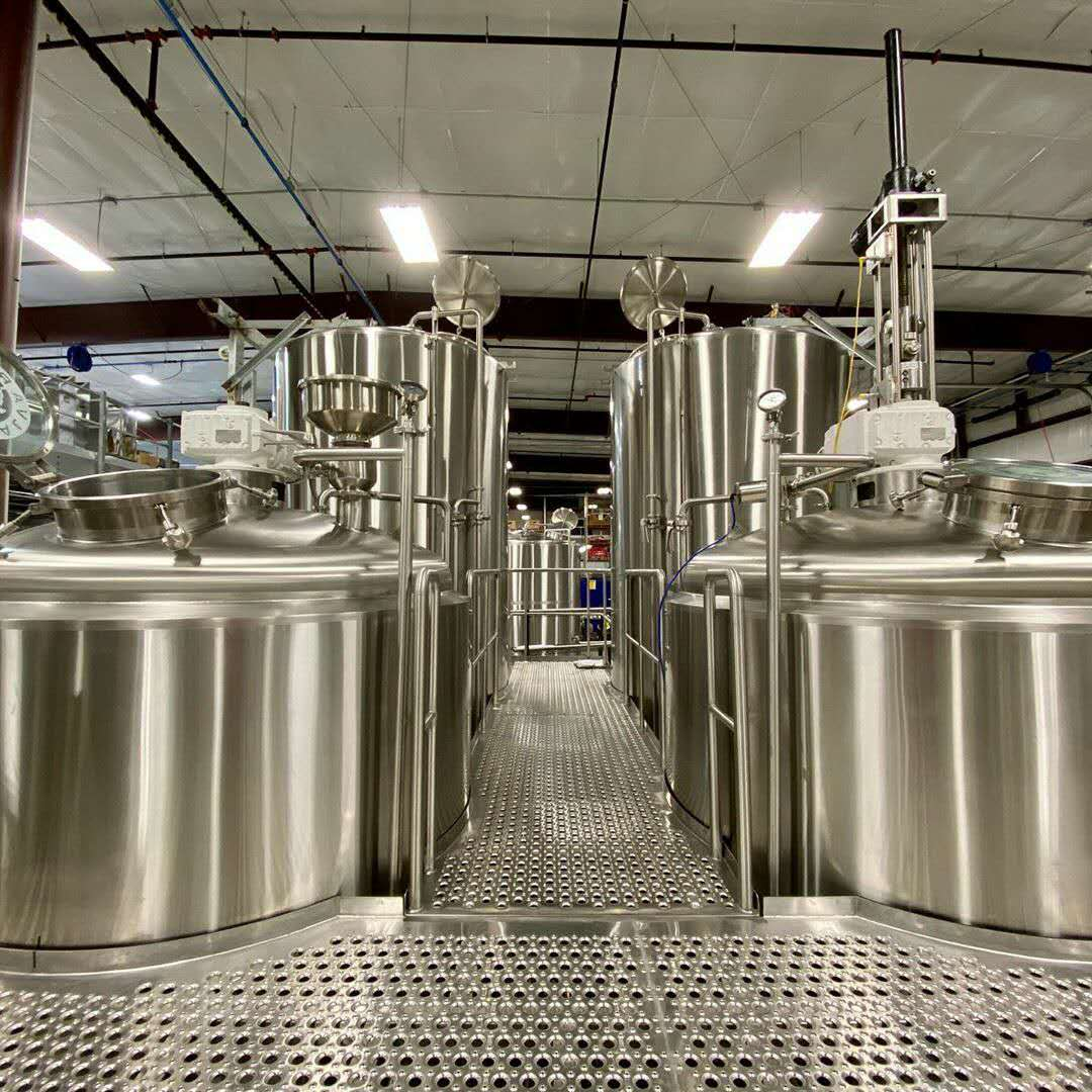 China professional craft beer brewing brewery factory expansion equipment mash tun and conical fermenters from WEMAC