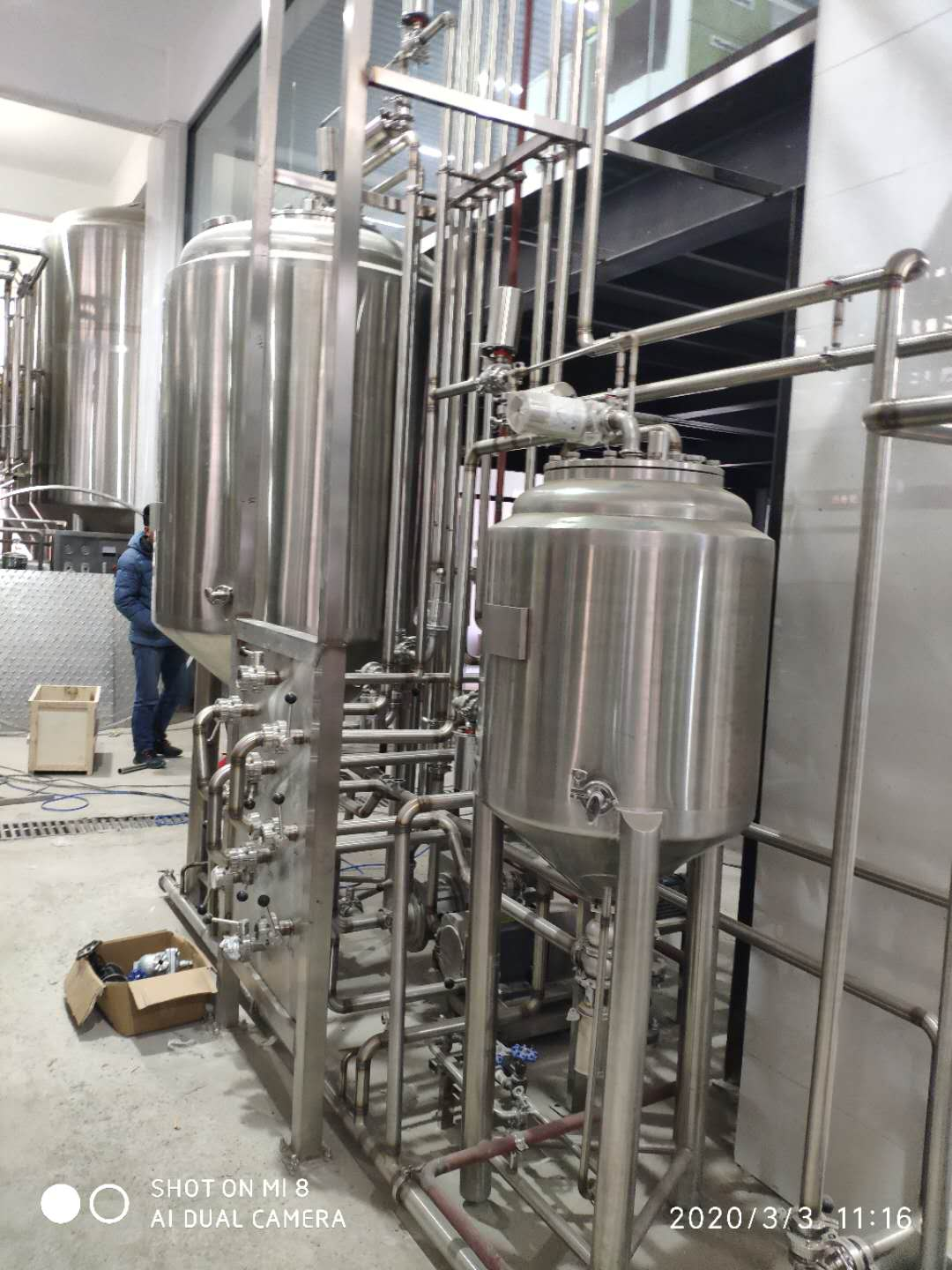 Complete brewery equipment of SUS 304 316 for sale from China W1