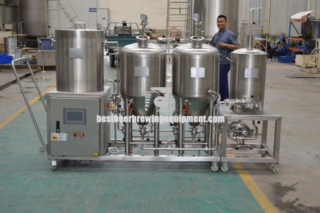 auto SUS304 50L Small size complete beer brewing equipment home use