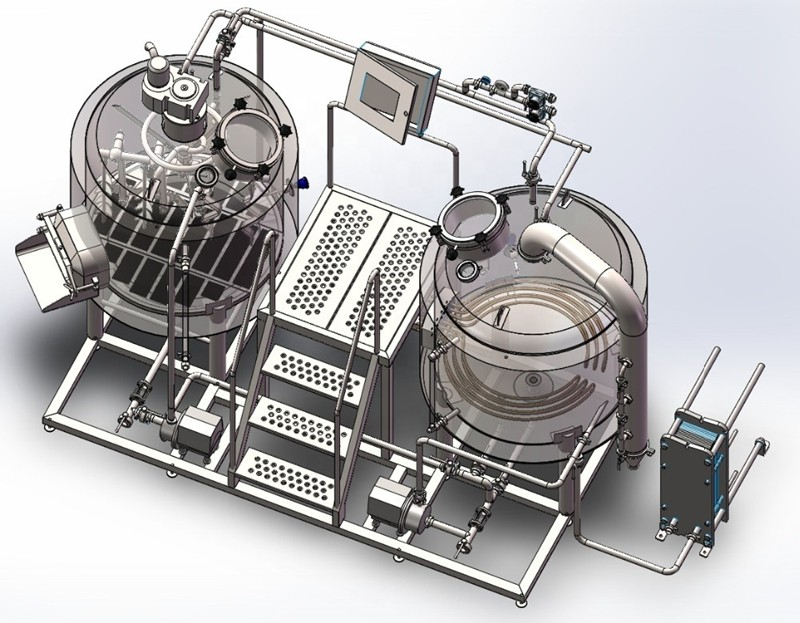 WEMAC-beer brewhouse-Germany beer brewing-brewery-high quality-jacketed mash tun-kettle tun-brewing -boiling tank-1000L-10HL.jpg