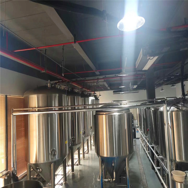 5000L Brewery equipment with 15sets 5000L fermenters in Qiandaohu Brewery Factory WEMAC Y022