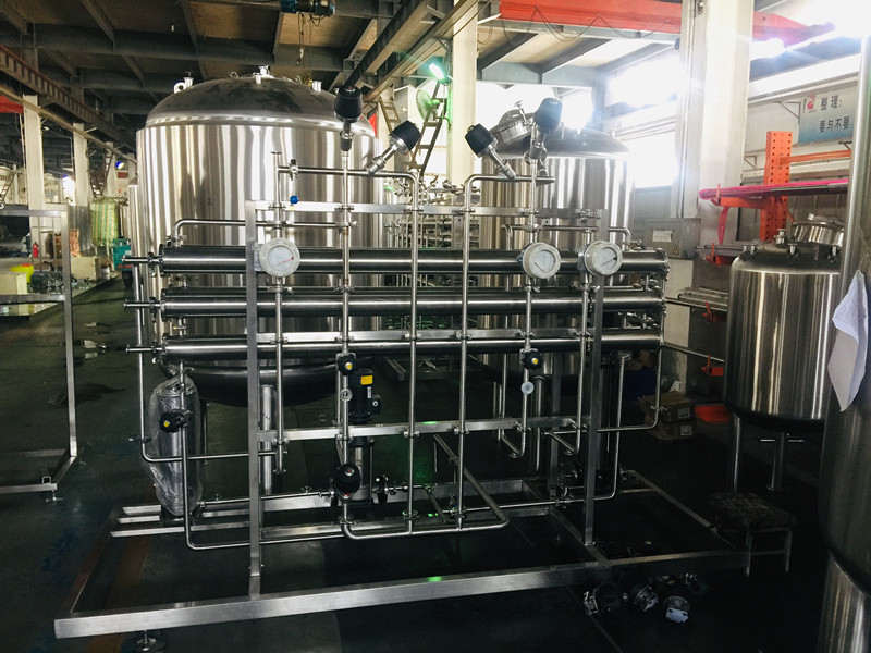 Process for manufacturing pure water equipment