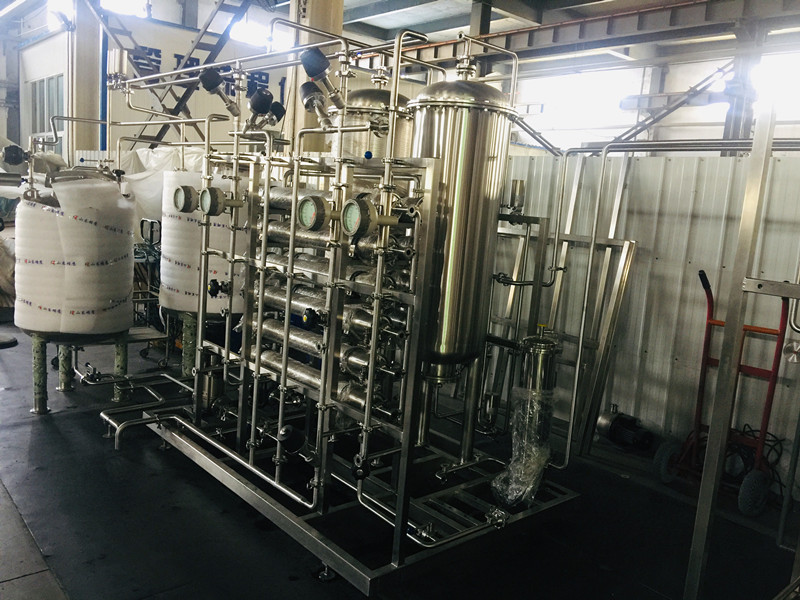Production process for filling purified water