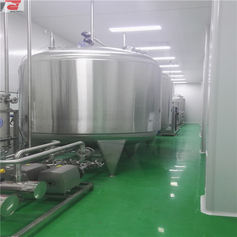 Pharmaceutical sanitary 500-5000L purified water storage tank for sale made in China WEMAC S006
