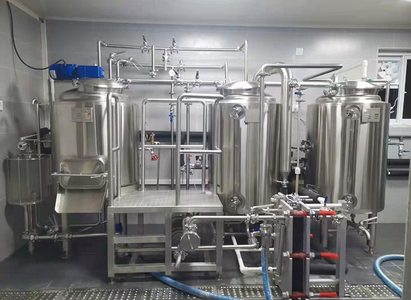 200L 2HL two-vessels craft beer making microbrewery brewhouse factory  ZXF