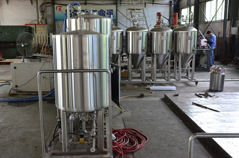 100L All in one micro beer brewing brewery equipme...