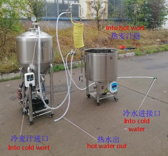 Romania 50L professional small beer brewing equipment of SUS304 China factory 2020 W1