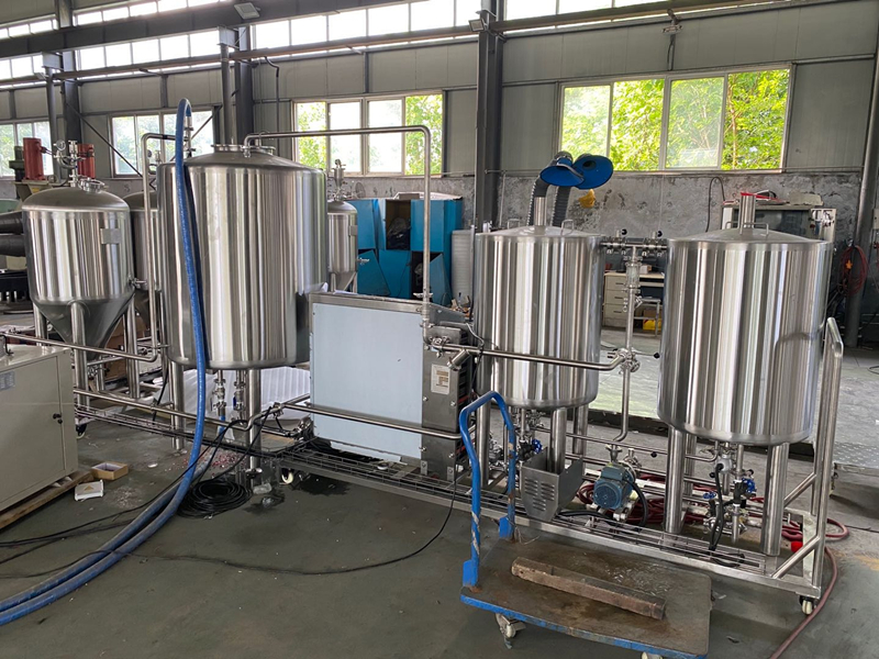 100L Complete set of Small scale craft beer making brewing equipment WEMAC manufacturer