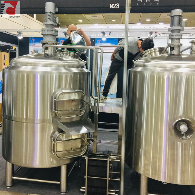 microbrewery stainless steel fermentation vessel