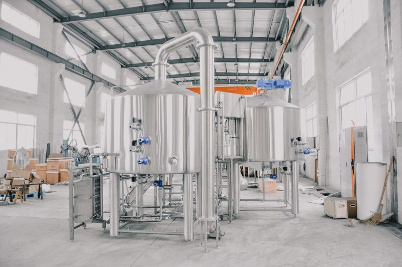 5BBL Stainless steel Microbrewery beer making brewhouse equipment sale well in restaurant ZXF