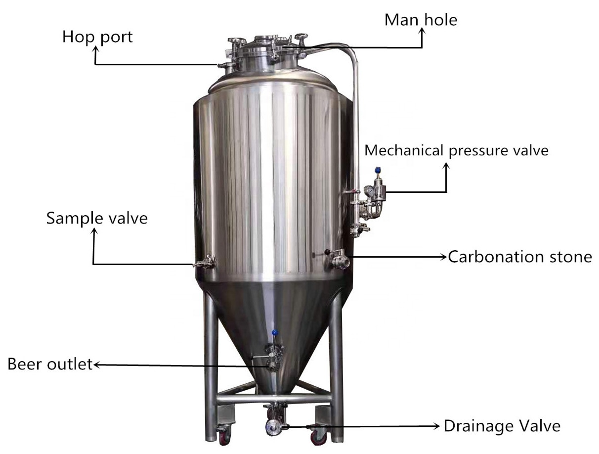 1bbl Fermenter Conical Beer Fermenter for turnkey Project hot sell in Philippines